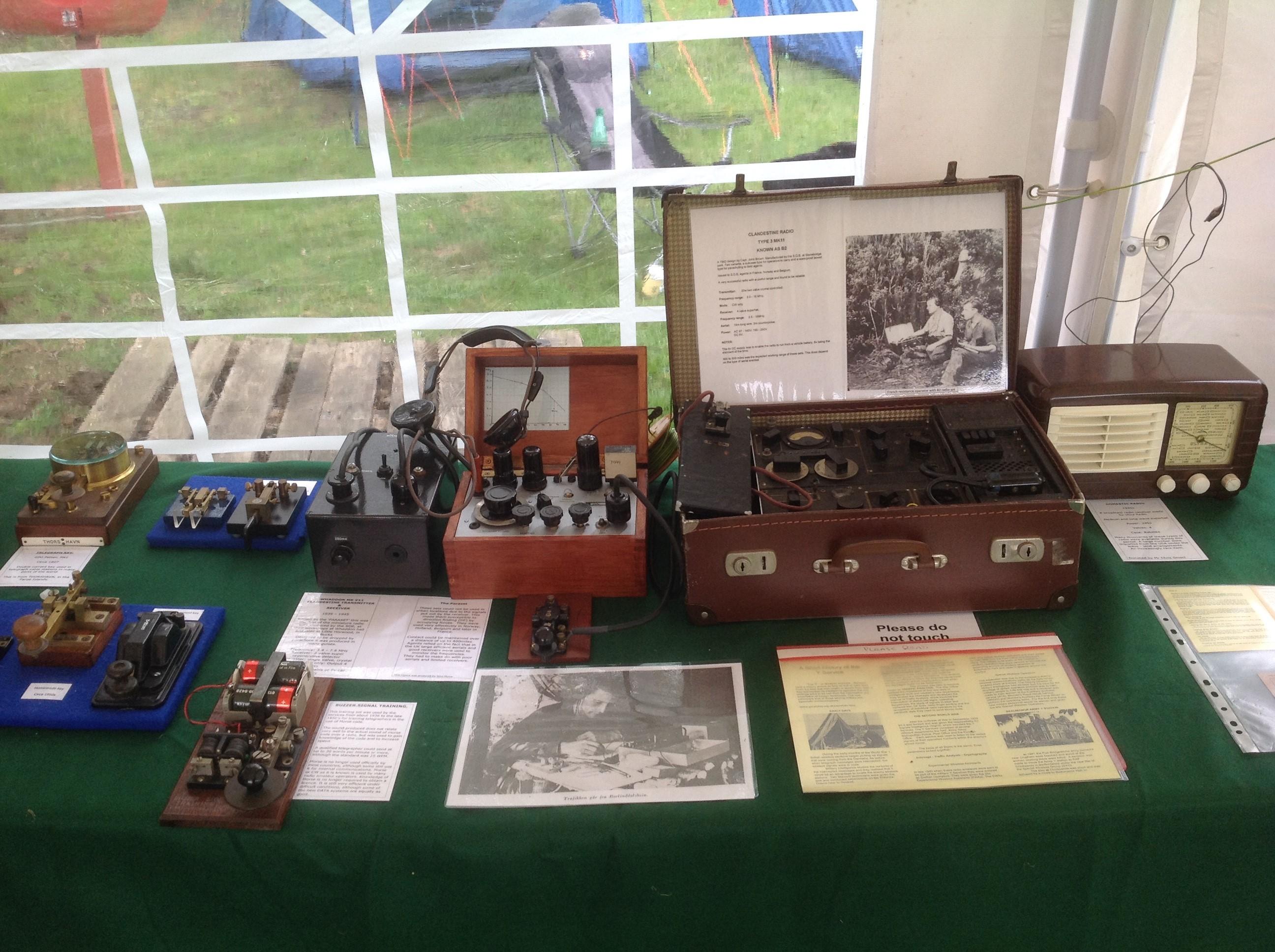 Morse keys and eare SOE radios.